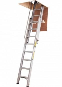 De Luxe Aluminium Heavy Duty Loft Ladder to BSEN14975
