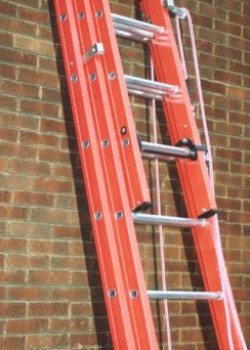Aluglas Glass Fibre Ladders-Two Section Rope Operated
