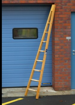 Timber Window Cleaners Ladder-Single Section
