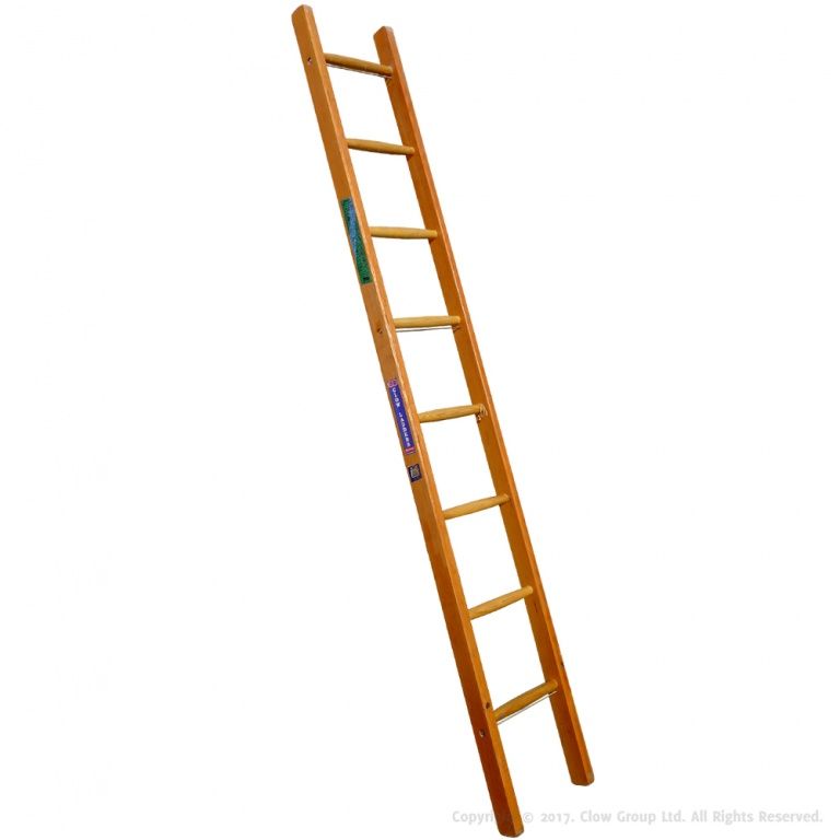 Industrial Timber Ladder Single Section To Bs1129 Class 1