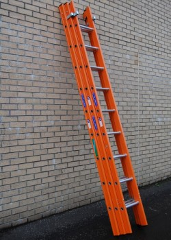 Aluglas Glass Fibre Ladders-Three Section Push Up