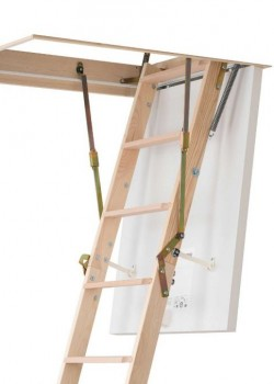 Dolle Clickfix 36 Lux Mini Timber Folding Loft Ladder