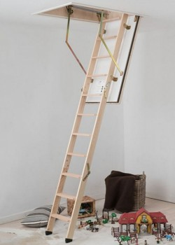 Dolle F30 Fire Rated Timber Folding Loft Ladder (1200 x 700mm)