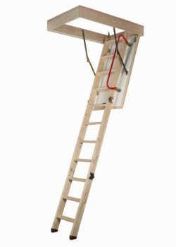 Dolle SW36-5 Three Part Folding Timber Loft Ladder