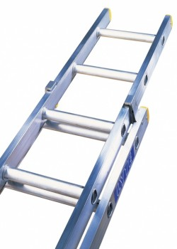 Trade Aluminium Extension Ladder-Two Section Push Up to EN131