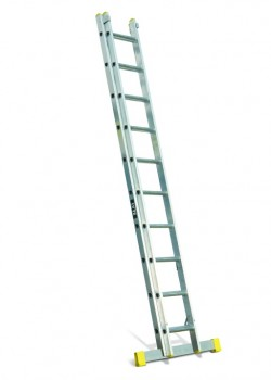 Professional Aluminium Extension Ladder-Two Section Push Up to EN131-2