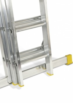 Professional Aluminium Extension Ladder-Three Section Push Up to EN131-2