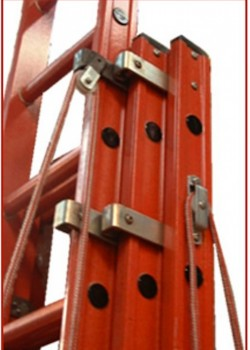 Euroglas All Glass Fibre Ladders - Three Section Rope Operated
