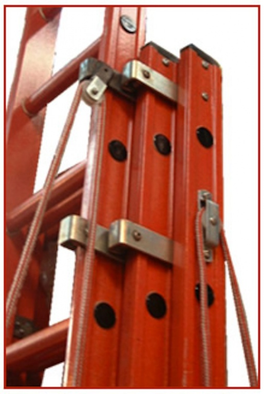 3 Section Extension Ladder : Euroglas all glass fibre ladders three section rope operated