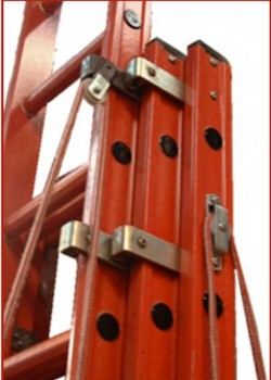 Euroglas All Glass Fibre Ladders - Two Section Rope Operated
