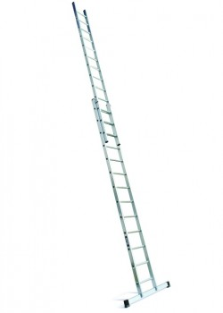 Industrial Professional Aluminium Extension Ladder-Two Section Push Up to EN131-2