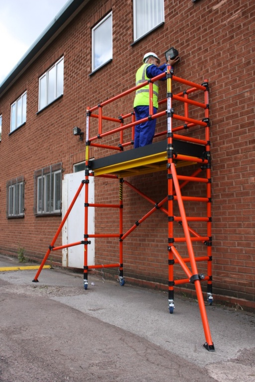 Portable Scaffolding Platform : Folscaf fibreglass scaffold tower working platform