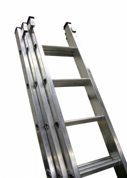 Industrial Professional Aluminium Extension Ladder-Three Section Push Up to EN131-2