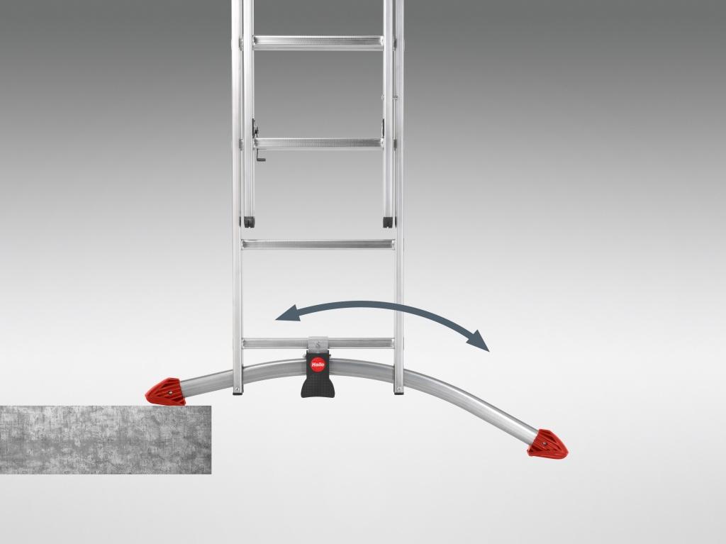 hailo profilot pedal adjustment combination ladder to en131. Black Bedroom Furniture Sets. Home Design Ideas