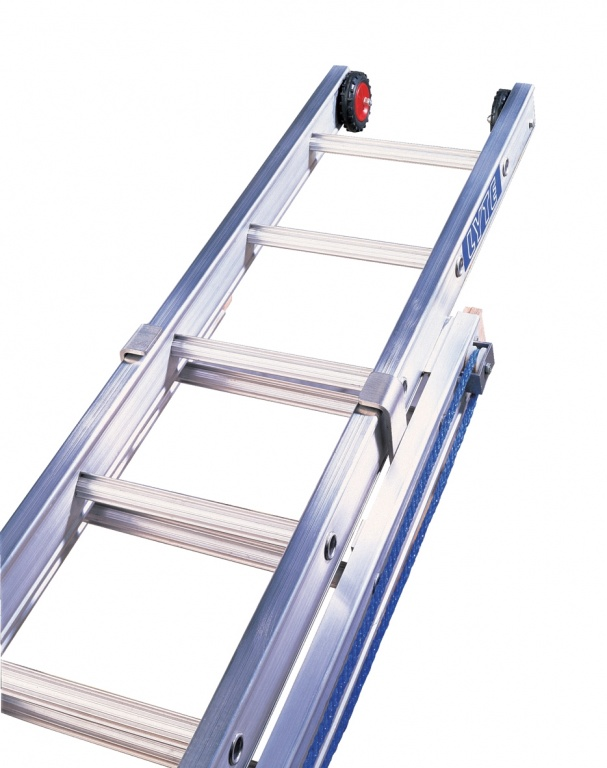 Youre Here Aluminium Ladders Industrial Professional Heavy Duty Rope Operated Extension Ladder Three Section