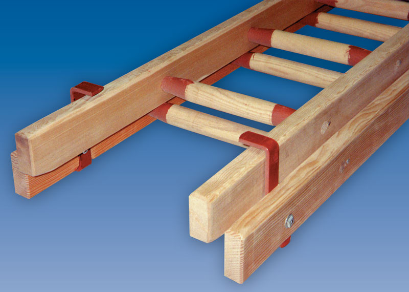 Trade Timber Ladder Two Section Push Up