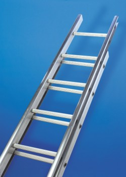 Industrial C Section Aluminium Extension Ladder-Two Section Push Up