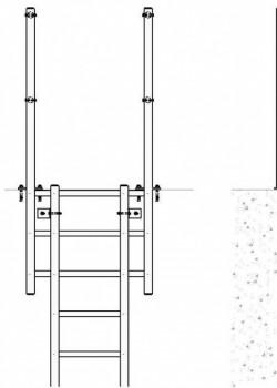 GRP (Glass Fibre) Fixed Access Ladders