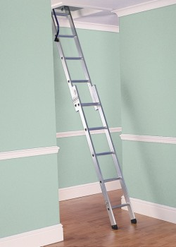 Deluxe Two Section Aluminium Loft Ladder to BSEN14975