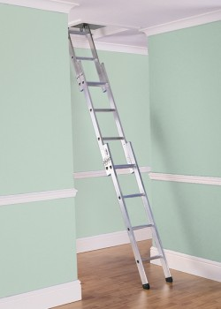 Deluxe Three Section Aluminium Loft Ladder to BSEN14975