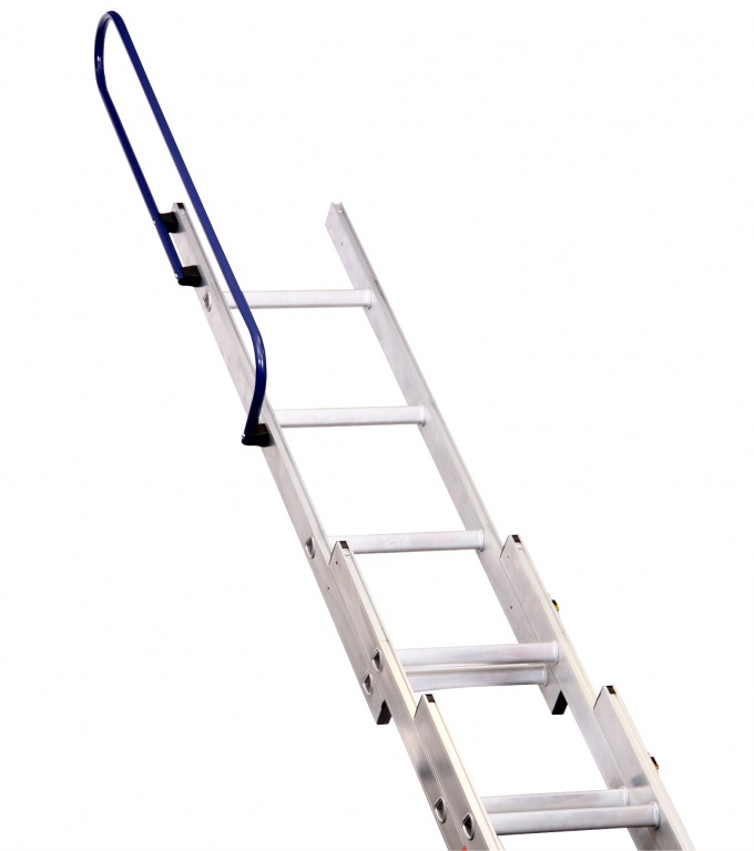 3 Section Ladder : Deluxe three section aluminium loft ladder to bsen