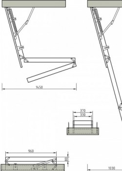 Easiloft Timber Loft Ladder to EN14975
