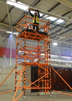HiLyte Glass Fibre Mobile 3T Scaffold Tower (Platform Size 2.50m x 1.45m)