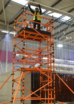 HiLyte Glass Fibre Mobile 3T Scaffold Tower (Platform Size 1.80m x 0.85m)
