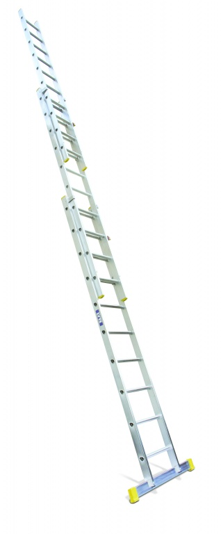 Professional Aluminium Extension Ladder Three Section Push Up To EN131 2