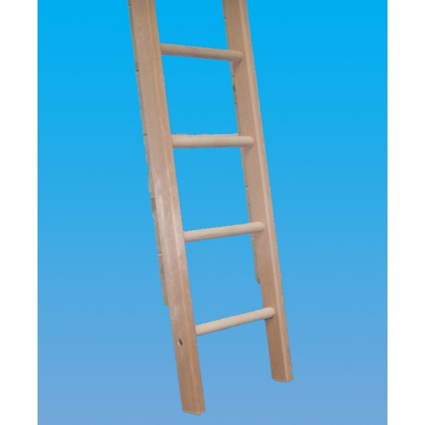 Industrial Timber Ladder with Hardwood Rungs-Single ...