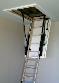 The Skylark 3 Section Electric Timber Folding Loft Ladder