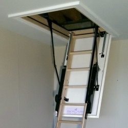 Introducing-The Skylark 3 Section Electric Timber Loft Ladder