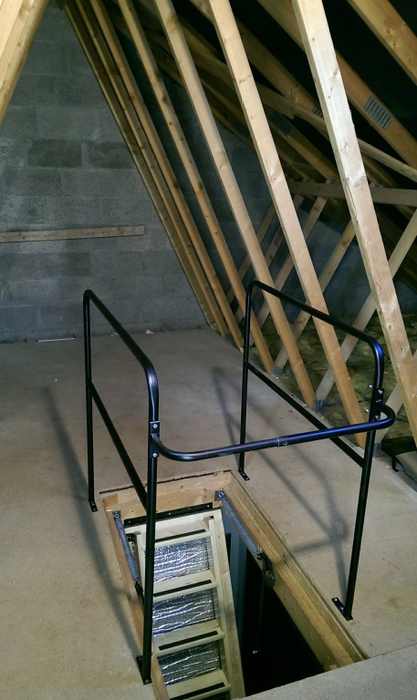 The skylark 3 section electric timber folding loft ladder Motorized attic stairs