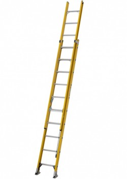 Alfo Glass Fibre Trade Rope Operated Double Extension Ladder